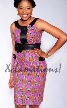 Leather + Ankara African print combination