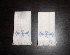 Natalia's Fine Needlework: Tutorial: Towel with Simple Needlepoint. Part 1.