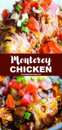 Our tangy, sweet Monterey Chicken is a quick satisfying winner. the combination of bacon and BBQ sauce is oh so good! Our tangy, sweet Monterey Chicken is a quick satisfying winner. the combination of bacon and BBQ sauce is oh so good! Great Recipes, Dinner Recipes, Favorite Recipes, Dinner Ideas, Lunch Ideas, Lunch Recipes, Salad Recipes, Easy Main Dish Recipes, Easy Recipes