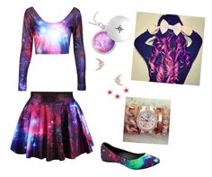 """Galaxy Gurl"" by allysa-penguin on Polyvore featuring F and Elizabeth and James"