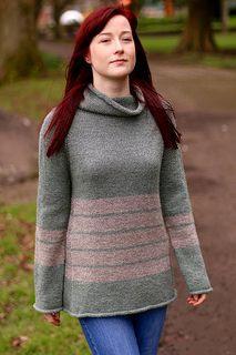 """Caelius,"" by Carol Feller, knit in Baa Ram Ewe Dovestone DK."
