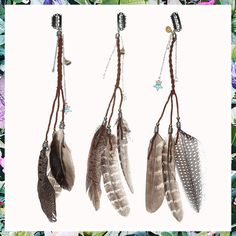 (This is an affiliate pin) Hippie Feather Hair Extension Clip - AWAYTR Bohemia Tribal Indian Peacock Hair Feather Hippie Headpiece Braided Beads Headwear Festival Hair Accessories (3color) Indian Peacock, Peacock Hair, Feather Hair, Fashion Headbands, Hair Extension Clips, Festival Hair, Headband Styles, Feathered Hairstyles, Hair Pins