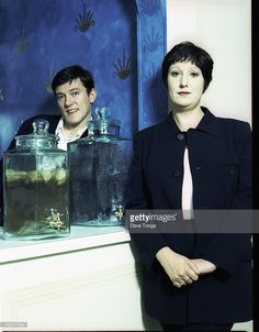 English dance musicians The Other Two, London, UK, 1993. Left to right: Stephen Morris and his wife Gillian Gilbert, both former members of New Order.