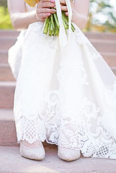 Neutral Bridal Shoes With Crystal Embellishments   Amber Shaw Photography https://www.theknot.com/marketplace/amber-shaw-photography-orem-ut-503464