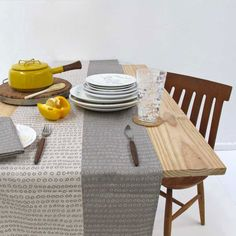 Table Runner Abacus in Pebble Grey by skinnylaminx on Etsy, via Etsy.