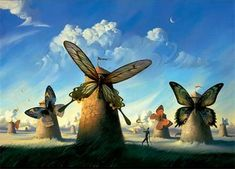 Vladimir Kush - thought this was by Dali but happy to learn about this light-hearted surrealist painter - kinda refreshing.