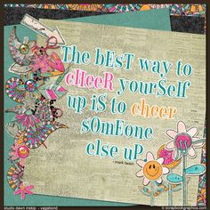 Cheer someone up today!  Post Note Quotes from Scrapbookgraphics