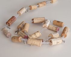WINE CORK GARLAND, 8 foot, Wine Gifts, Wine Decoration, Valentines Decoration