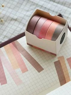 This is really cute self-adhesive masking paper tape, perfect for scrapbooking, decoration, or any other handmade projects you can think of. - Material: washi paper - Size: x x 5 rolls - Self-adhesive, easy to remove and re-usable. Cute School Supplies, Office And School Supplies, Office Stationery, Stationery Paper, Study Room Decor, Stationary Supplies, Paper Tape, Masking Tape, Washi Tapes