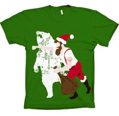 Christmas Bear Punch T-Shirt Uncovet, I think my husband would laugh at this as hard as I did.