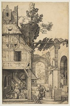The Nativity, Albrecht Dürer, n.d. - engraving