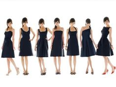 Different shapes for dresses