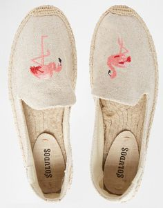 Soludos Flamingos Espadrille Flat Shoes