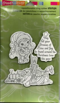 Stampendous Cling Rubber Stamps - Kiddo Toyland #129 Repositionable