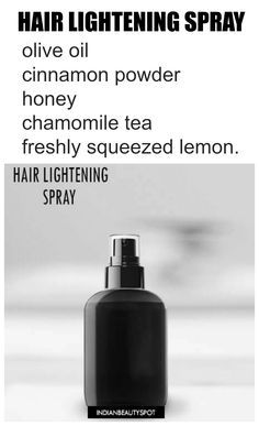 Make Your Own Hair Lightening Spray