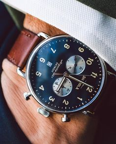 @Shinola's newest watch is perfect for guys who want something eye-catching, but not too complicated. Check out more at the link in bio. ( @andrewleegoble) #WOTW