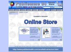 Publiemme 84 online store Striscioni e cavalletti pubblicitari