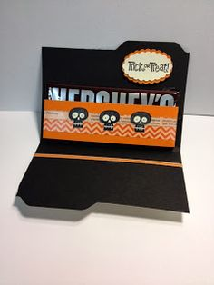 Halloween Hello Candy Holder Card Weekend Project Inside Candy Holder Stampin' Up! Rubber Stamping Handmade cards and gifts