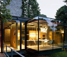 Glass house design, modern glass house, house of glass, glass house garden, Modern Glass House, Glass House Design, Modern House Design, Modern Houses, Contemporary Houses, Contemporary Architecture, Wall Design, Luxury Houses, Tiny Houses