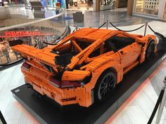 A full-sized Porsche 911 GT3 RS lego car was displayed at a mall in Stockholm Sweden, head inside to view photos.