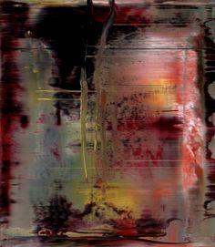 'Abstraktes Bild' (2000) by German artist Gerhard Richter (b.1932). Oil on Alu Dibond, 46 x 40 cm. via the painter's site