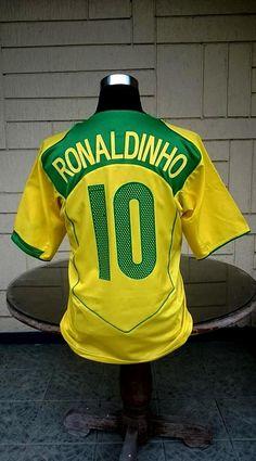 90b36d29d8c BRAZIL 2004 COPA AMERICA CHAMPION RONALDINHO 10 JERSEY NIKE SHIRT CAMISETA  LARGE Nike Shirt