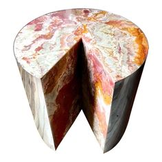 Pace Collection Red Jasper 'Pie' Side Table, 1970 - Image 1 of 4