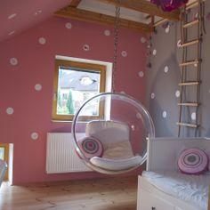 Puntíky MIX s ptáčkem nebo květinkou / Zboží prodejce lepeeto Bubble Chair, Girls Bedroom, Bedroom Ideas, Bedrooms, Hanging Chair, Future House, Playroom, Kids Room, Bubbles