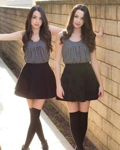 Hey we're Veronica and Vanessa Miller!We're 18 and identical twins.People mostly can't tare us apart.You might have seen us from YouTube. Veronica) I love to write,model,and just anything. Vanessa) Same for me,but I like to be by myself also. Both) Introduce?