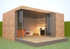 prefabricated garden room system, living room layout