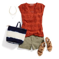Stitch Fix Outfit - love the orange top Look Fashion, Womens Fashion, Fashion Tips, Fashion Trends, Fashion Websites, Fashion Outfits, Petite Fashion, Bon Look, Looks Plus Size