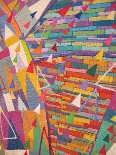 To Tomorrow, Keiko Goke Textiles, Geometric Quilt, Quilt Modernen, Textile Fiber Art, Contemporary Quilts, Quilting Designs, Art Quilting, Crazy Quilting, Barn Quilts