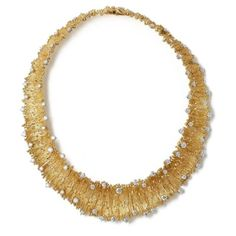 'Lei' Necklace, 2011 Grima to Exhibit Vintage Jewelry Designs at Art Antiques London Cute Jewelry, Jewelry Art, Gold Jewelry, Vintage Jewelry, Fashion Jewelry, Jewelry Design, Vintage Necklaces, Fashion Accessories, Contemporary Jewellery
