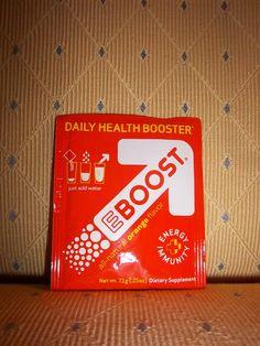 Eboost orange drink in Beauty Blogger Vox Box