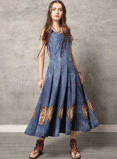 #dressforwomen #denimdress #summerdresses #longdresses