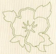 Machine Embroidery Designs at Embroidery Library! - Floral Quilting Size: 3.13 x 3.12 (79.5 x 79.2 mm) Stitch count: 529    POPPIES