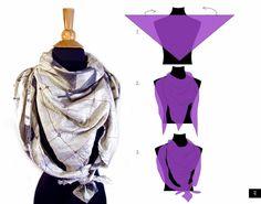 3 step ways to tie a scarf