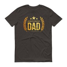 Men's World's Okayest Dad t-shirt - birthday gifts for dad from daughter son