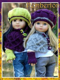 Pemberton PDF Doll Clothes a cabled capelet by DebonairsDesigns