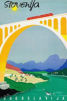 Slovenia, Yugoslavia travel poster 1950s