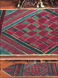 Quilting - Home Decor - Table Topper Quilt Patterns - Ribbon Table Runner Quilting Pattern - #FQ00407