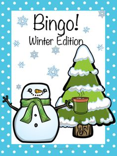 "This activity is designed to help students learn winter themed vocabulary. It also helps students use critical thinking skills when the characters from each bingo card are described rather than called out by name. For instance instead of calling out ""Snowman"", you could say ""He is made out of snow using three circles."