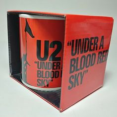 """Under A Blood Red Sky"" New Ceramic Coffee Mug Cup in the Display Box Sky New, U2, Display Boxes, Mug Cup, Coffee Mugs, Blood, Ceramics, Garden, Ebay"