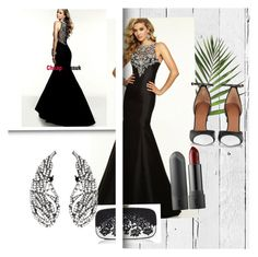 """""""CheapDressuk 59"""" by vanji ❤ liked on Polyvore featuring NLXL, Oscar de la Renta and Givenchy"""
