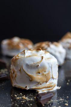 Meringue Encased Chocolate Mousse S'more Cakes | halfbakedharvest.com