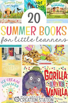 Between the warm weather, delicious ice cream, and trips to the beach, summer is such a fun time of year! Finding summer books to read with your little learners is a wonderful addition to this unit as they learn all about summer! 20 Summer Books for Little Learners - Mrs. Jones' Creation Station #Books #Summer #Reading