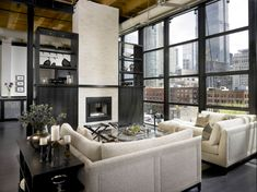 In a private loft residence in Chicago, Illinois, an incredulous renovation was contrived by taking two old apartments, gutting them and merging them into one beautiful space