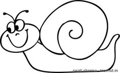 ~ Swati Sharma Cute snail coloring page Cat Clipart, Teaching Letters, Colouring Pages, Coloring, Doodle Drawings, Painted Rocks, Bugs, Projects To Try, Clip Art