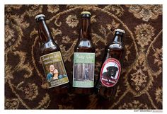 Personalized beers @Judy Clark Reception in Monterey - The Perry House