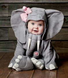 You best believe my first child will be an elephant for their first halloween